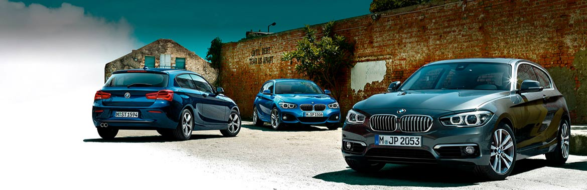 Tres coches BMW